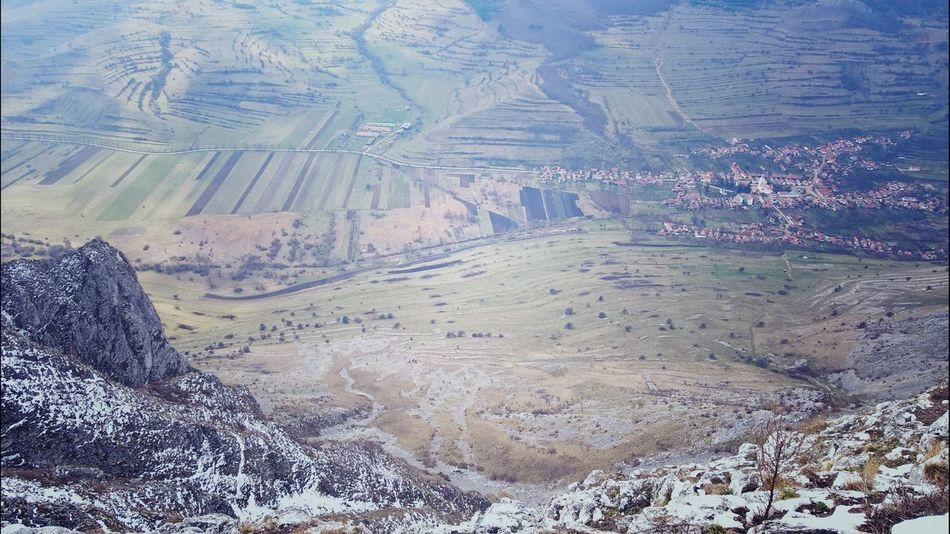 #Mountain #Rimetea #Torockó #travel #trip #valley Aerial View Agriculture Beauty In Nature Day Landscape Nature No People Outdoors Scenics