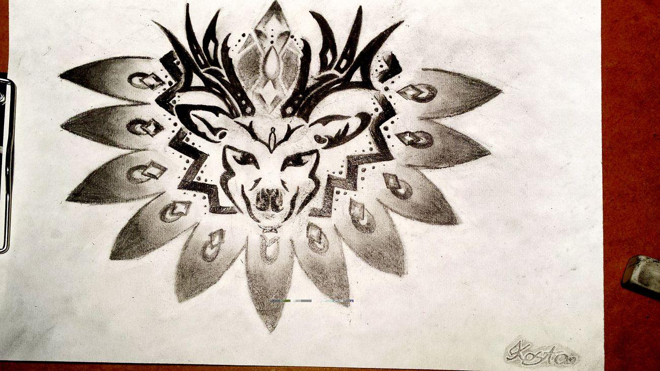 Moje Artystyczniezajebiście Drawing Art Jelen Tatuaż Projekt Kocham Rysować <3