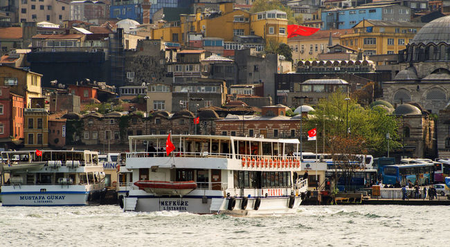 Ferryboat in Istanbul Architecture Building Exterior Built Structure City City Life Cityscape Day Development Ferryboat Istanbul No People Outdoors Residential Building Residential District Residential Structure Town Turkey Waterfront