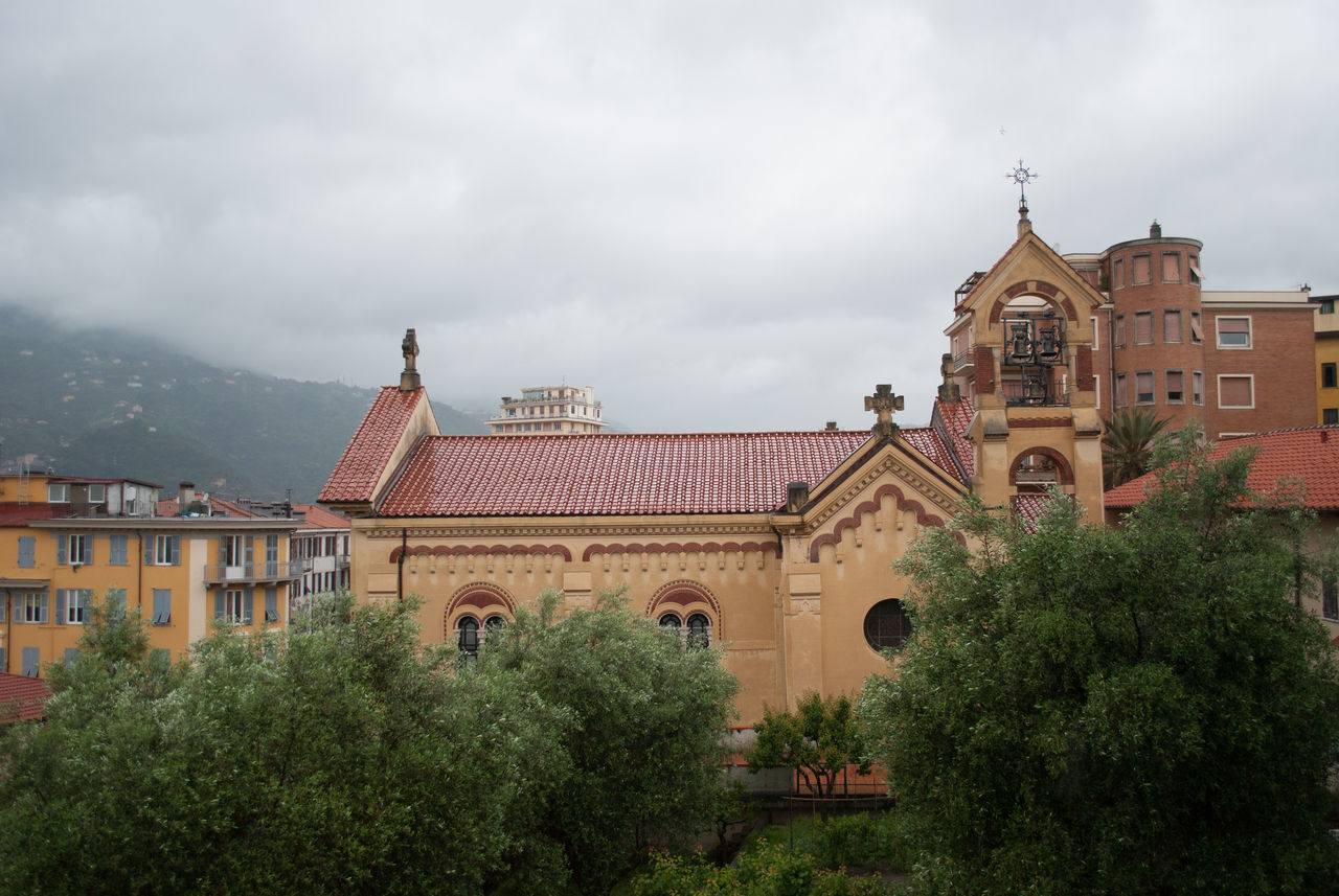 View Of Church Against Cloudy Sky