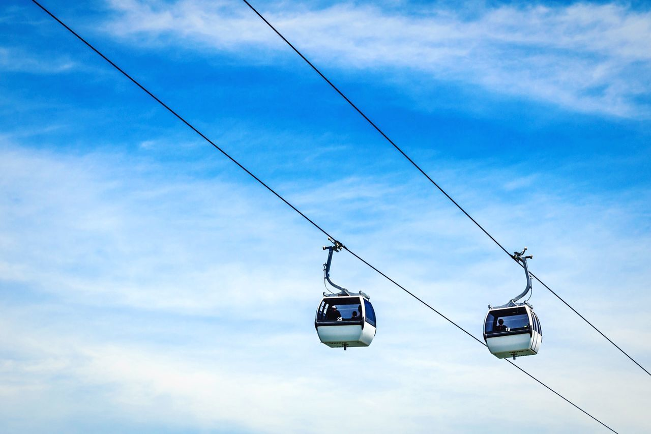 Cable car in the park of nations (Lisbon / Portugal) Open Edit Cable Car EyeEm Best Shots Lisbon Portugal Negative Space Travel Photography