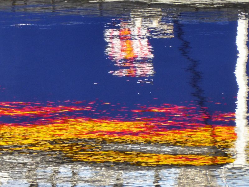 Water Reflection Waterfront No People Outdoors Day Nature Sea Multi Colored Beauty In Nature Close-up Scotland Reflection_collection Reflections In The Water Reflection Scenics Tranquil Scene Lifeboat RNLI Lifeboat