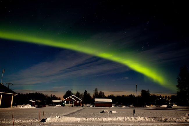Landscapes With WhiteWall Aurora Borealis Northern Lights Lapland