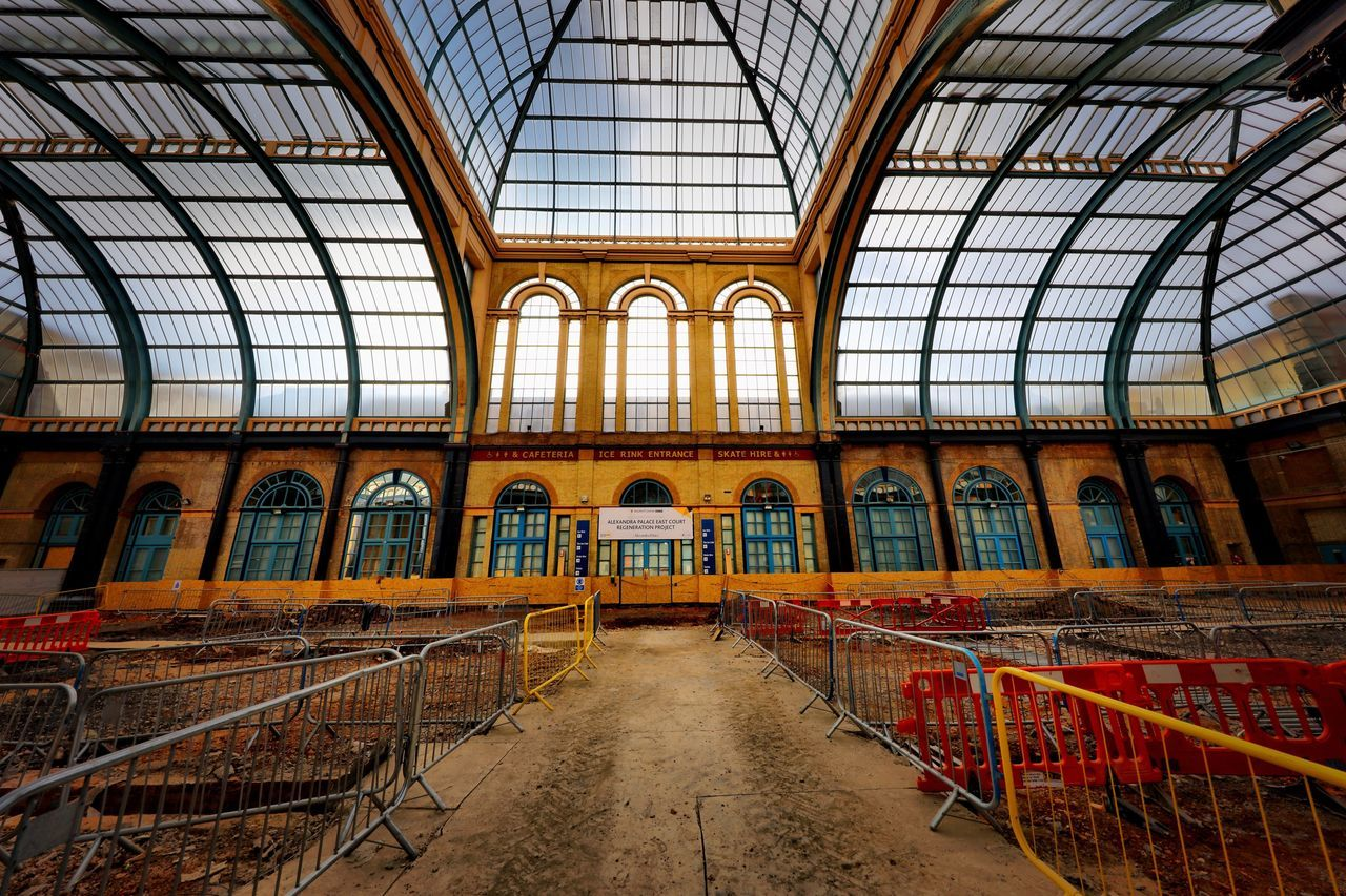Alexandra Palace Restoration Architecture Ceiling Indoors  Railing Built Structure No People Day Library