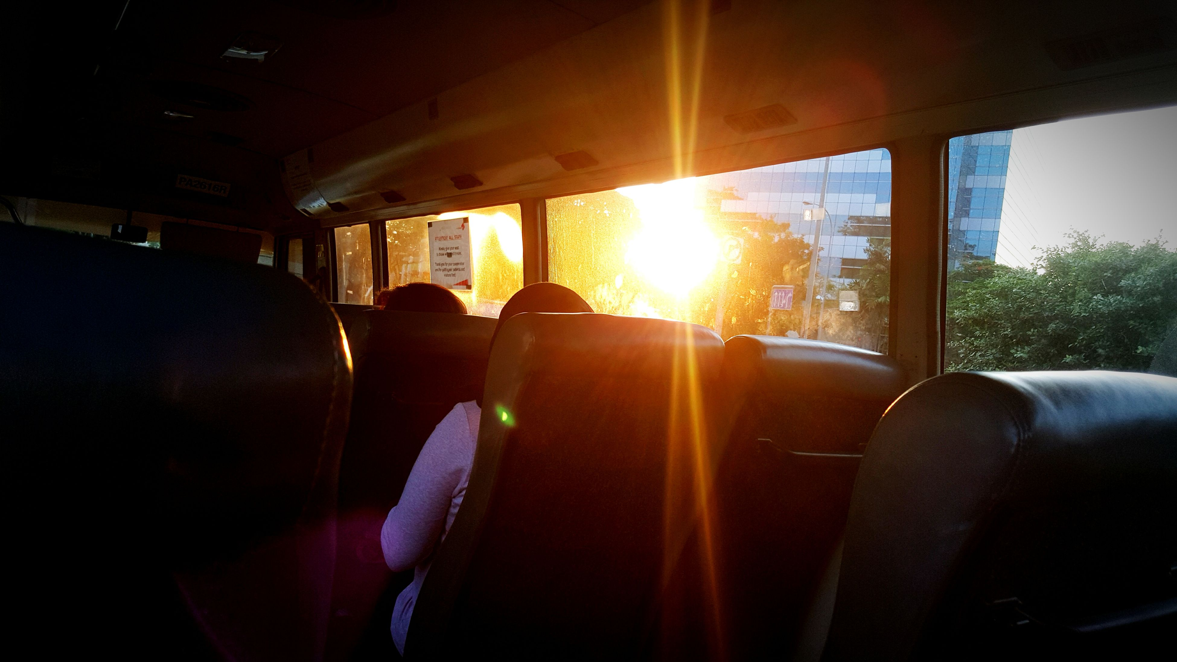 sun, sunbeam, sunlight, transportation, lens flare, sunset, vehicle interior, mode of transport, car, window, land vehicle, glass - material, indoors, travel, sky, bright, transparent, vehicle seat, sunny, silhouette