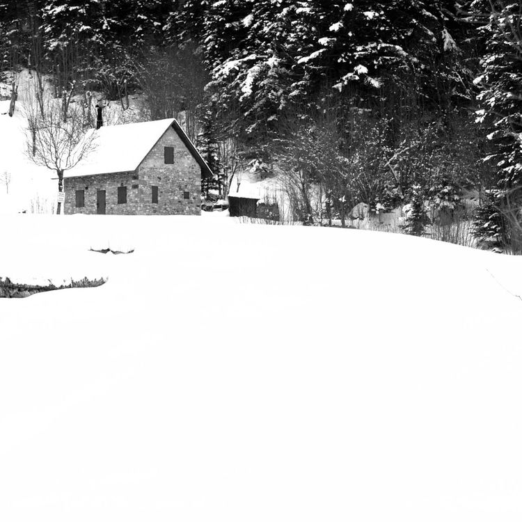 Solitude Architecture Blackandwhite Building Exterior Built Structure Catalonia Catalunya House Minimalism Nature No People Outdoors Snow Tranquility Tree Valldaran