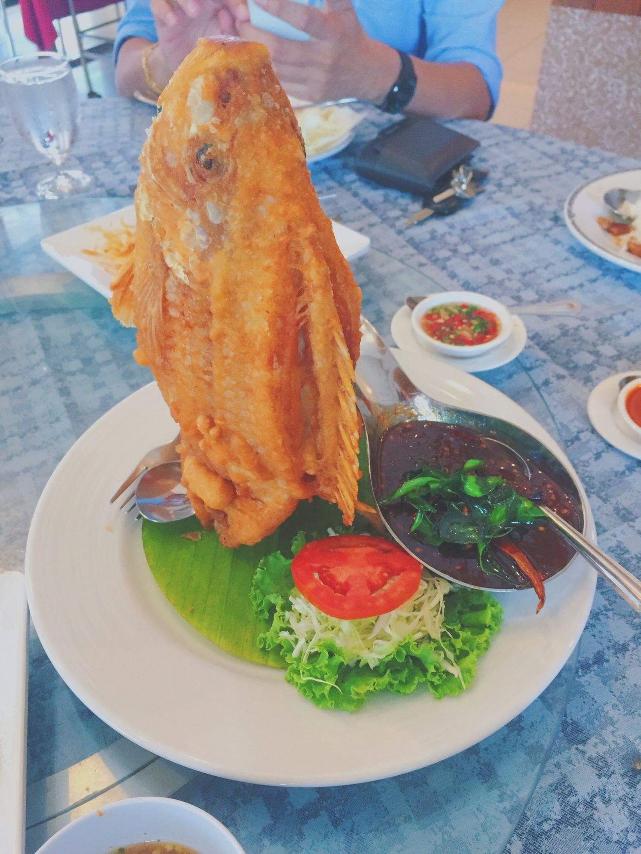 Lunch today 🐟😝 Lunch Lunch Time! Fish Restaurant Thai Food Thai Restaurant Iphone6 Vscocam