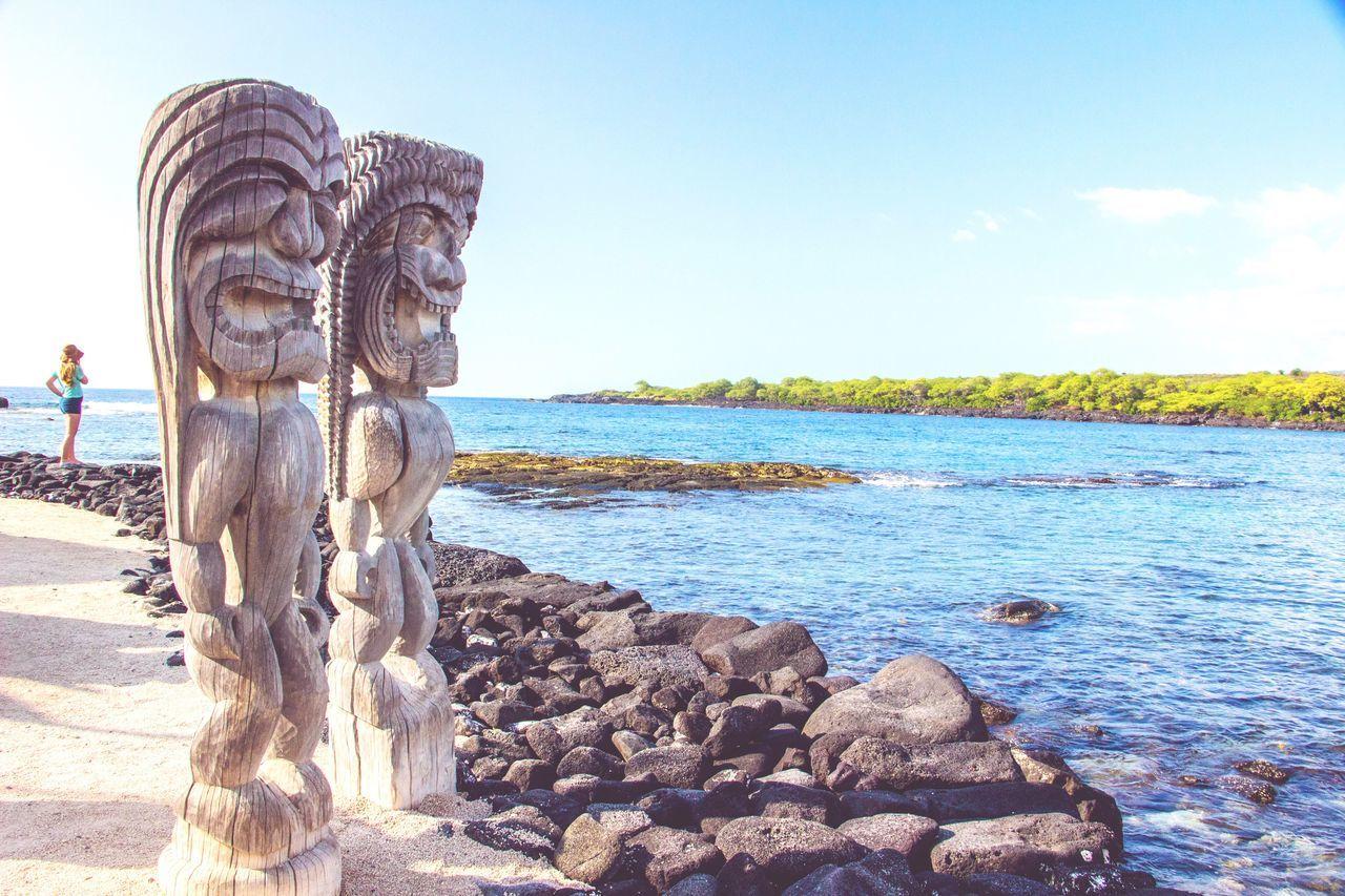 Tiki Tikiş Tiki God Tiki Gods Hawaii Statue Beach Big Island Big Island Hawaii Neighborhood Map