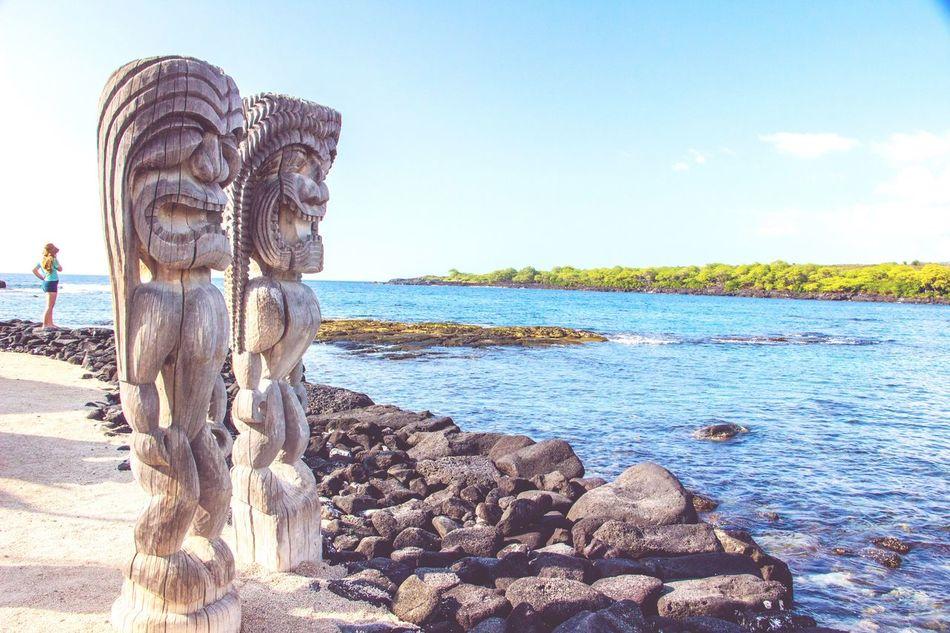 Tiki Tikiş Tiki God Tiki Gods Hawaii Statue Beach Big Island Big Island Hawaii