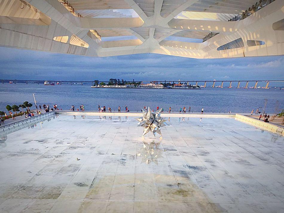 Museu Do Amanhã Baía De Guanabara Turism Rio De Janeiro Sunset