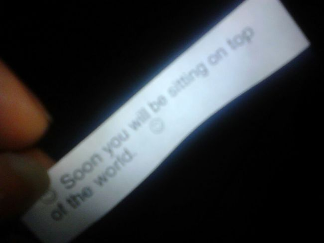 what my chinese cookie said