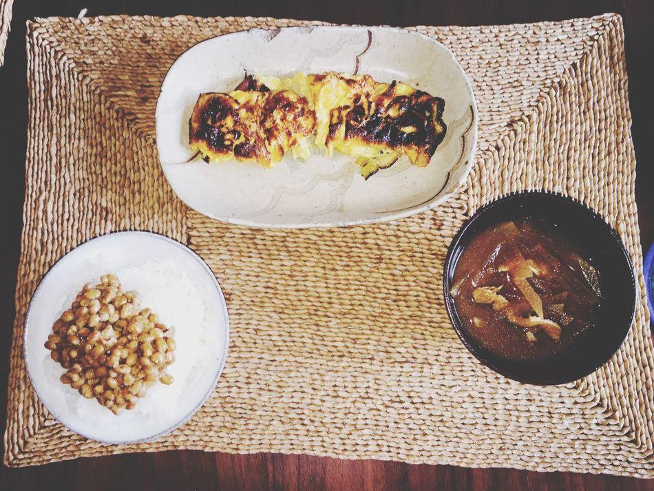 Japanese  Normal Breakfast Easy 卵焼き 失敗 Hello World Miso Soup Natto Egg 甘い卵焼き作るとかならず失敗!