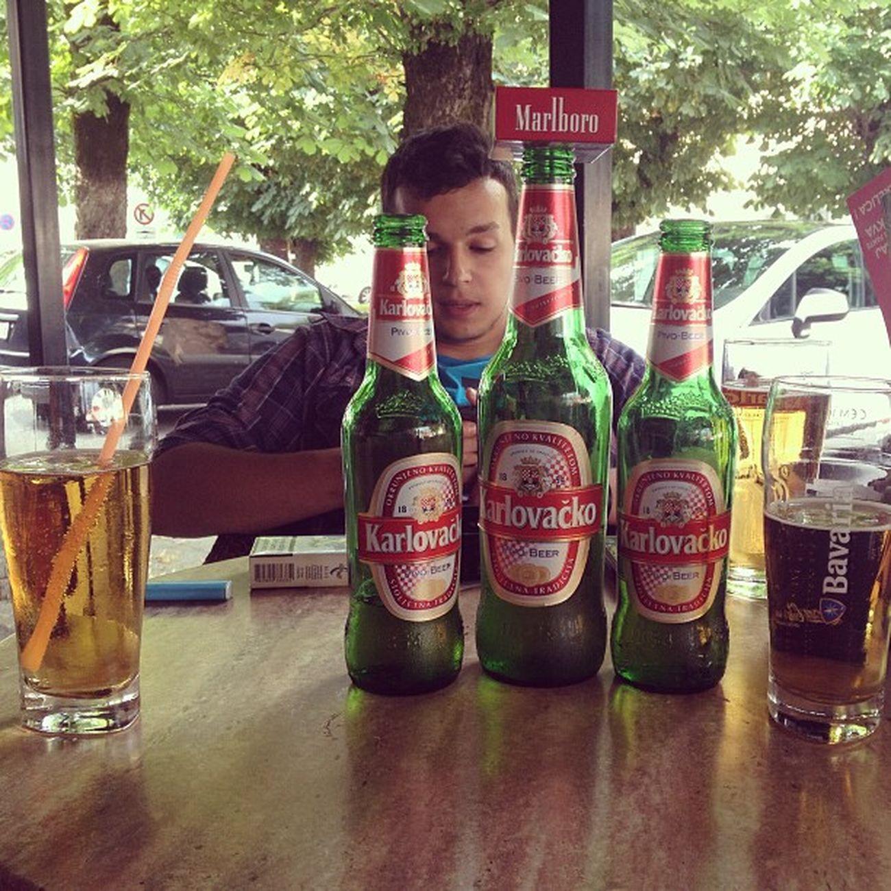 Drinking Beer Karlovacko Marlboro boycitybar
