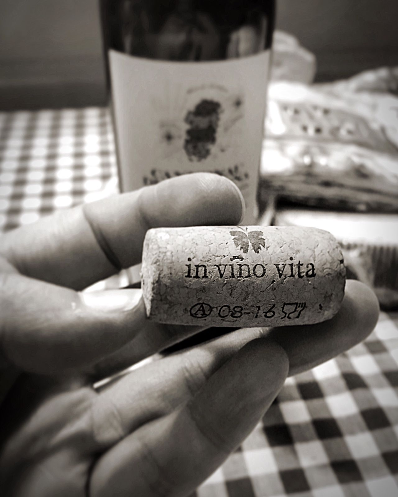 Invinovita Wine Food And Drink Human Finger Blackandwhite Dinner Time Drinking Bottle Person Joy Traveling Communication Table Text Relax Holiday