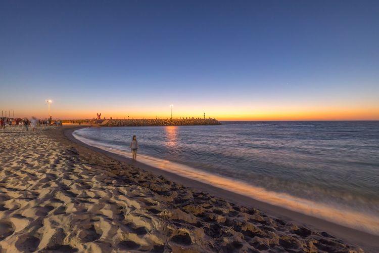 Cottlesloe Beach Sunset Dusk Western Australia Perth Coastline Ocean