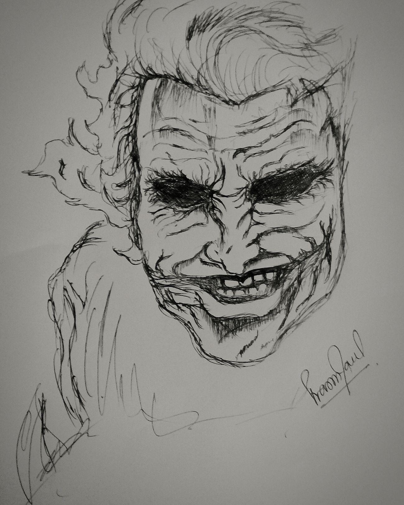 Sketching Joker Drawings Sketchoftheday