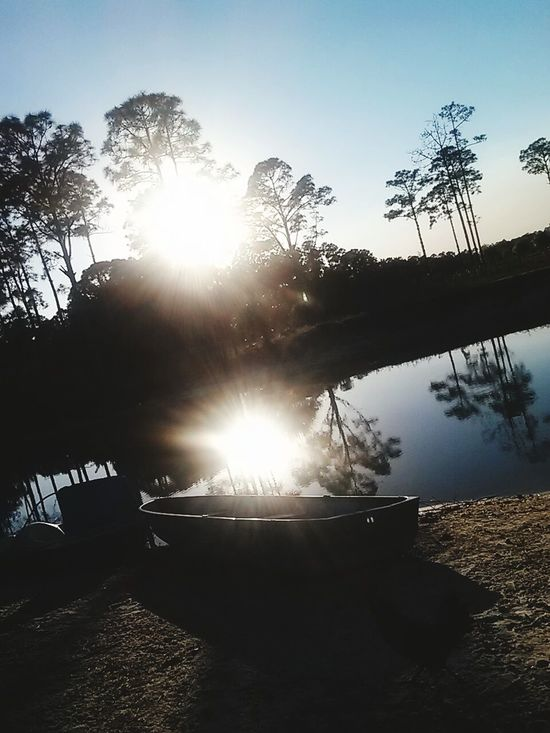 Nature Relaxing Enjoying Life Hello World Outdoors Outside Outdoor Photography Outside Photography Trees Water Water Reflections Sun Sunlight Sunny Day Boat First Eyeem Photo