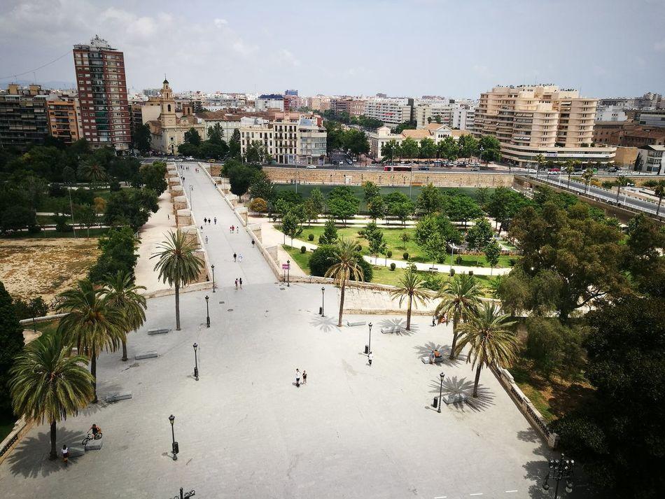 No Filter EyeEmNewHere SPAIN València Cityscape Architecture Jardin Del Turia Torres De Serranos Skyviews