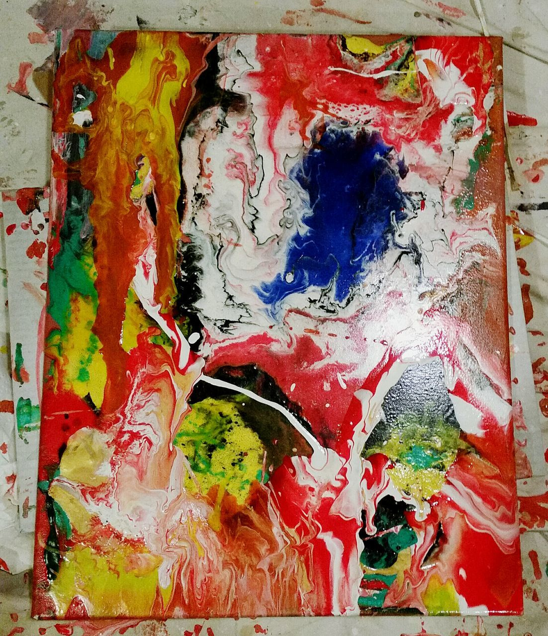 paint, close-up, abstract, multi colored, backgrounds, variation, indoors, full frame, textured, palette, no people, day