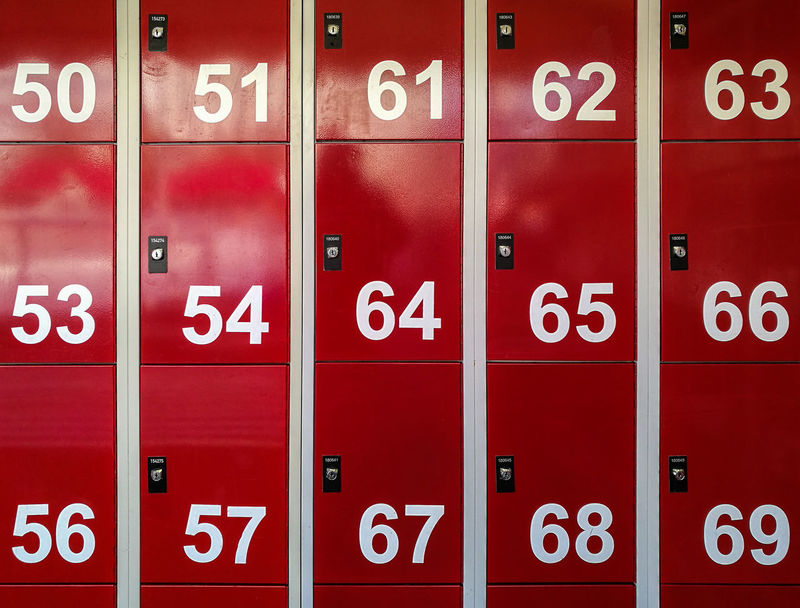Fiftysixtynine Backgrounds Berlinmalism Communication In A Row Locker Minimalism Minimalist Photography  Minimalistic Minimalobsession No People Number Protection Ralfpollack_fotografie Red Safety Security Simplicity Symmetry