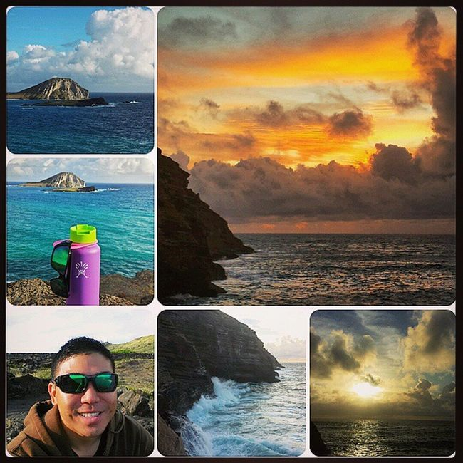 Tuesday morning shenanigans! EastSide Chinawalls SpittingCave MakapuuLookout Rabbitisland Hydroflask Oakley Selfie Sunrise Cloudy Skyporn Oceanspray Waterfall ExploreHawaii HiLife Oahu Hawaii Aloha InstaFrame Beautiful Epichi Goodstuff Luckywelivehi Roadtrip Samsunggalaxy4 shenanigans
