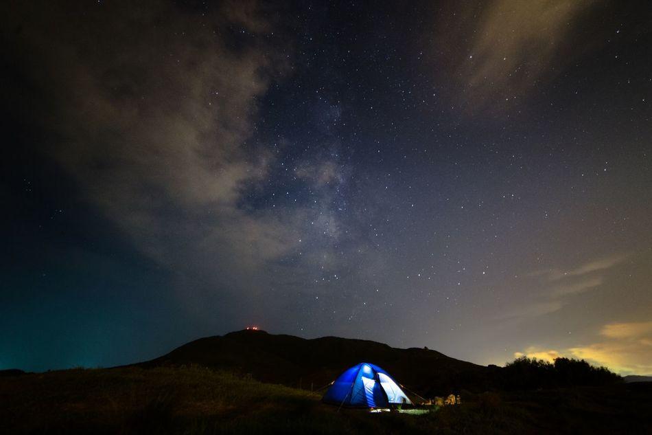 Beautiful stock photos of camping, Beauty In Nature, Field, Idyllic, Illuminated