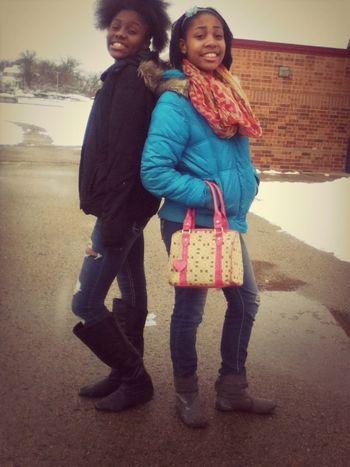 With my baby Ari