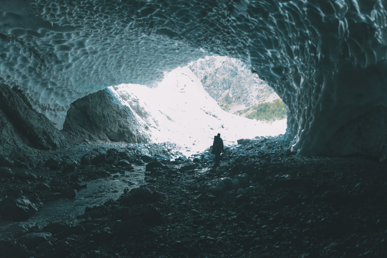 Ice cave exploring Backgrounds Beach Beauty In Nature Cave Day Eye4photography  EyeEm Gallery EyeEm Nature Lover Germany Hiking Ice Caves Leisure Activity Men Nature One Person Outdoors People Real People Sea Silhouette Sky