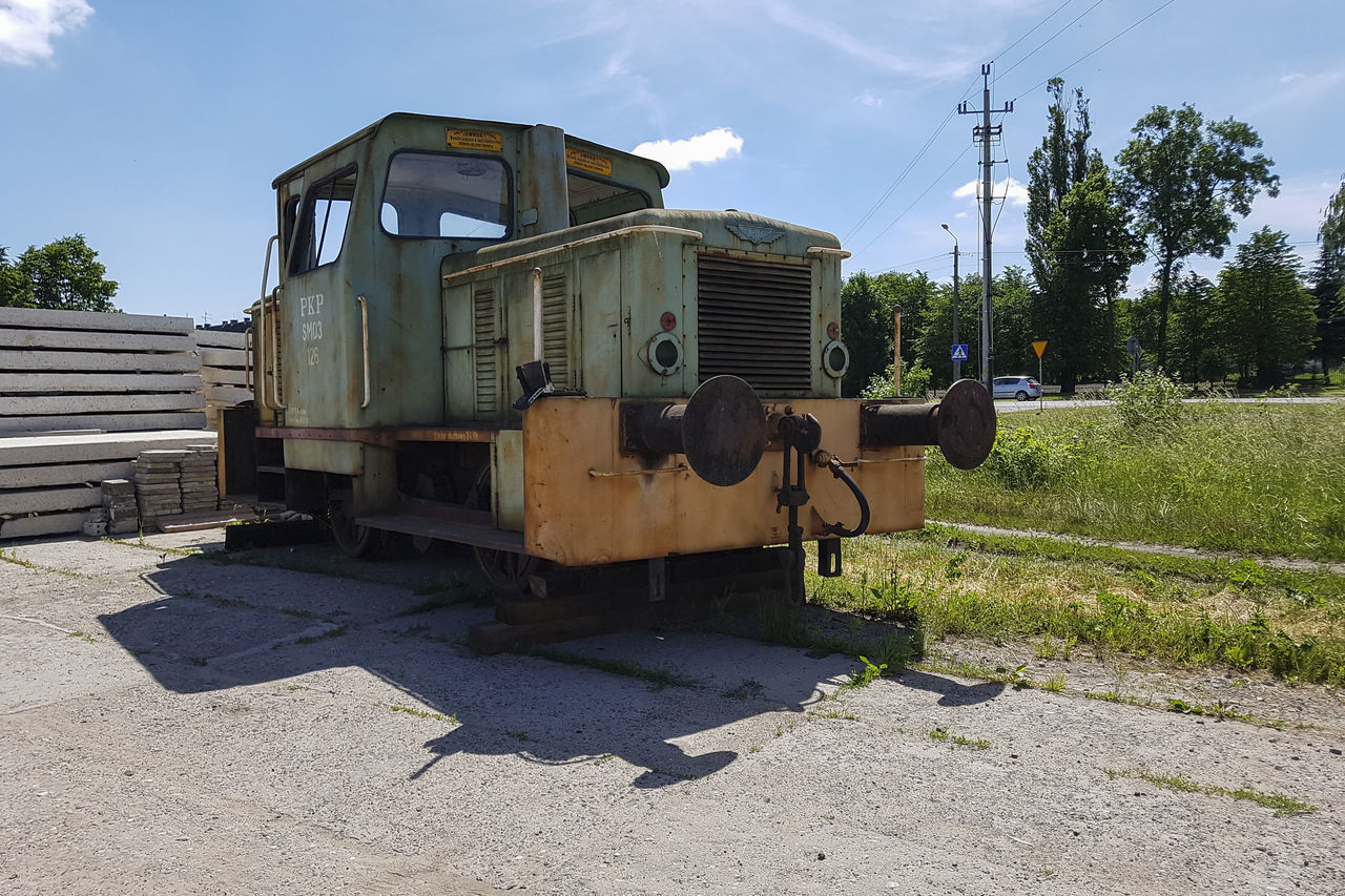 Abadoned Day History Locomotive Mode Of Transport Narrow Gauge Railway No People Old Outdoors Railway Sky Transportation Wreck Wrecked