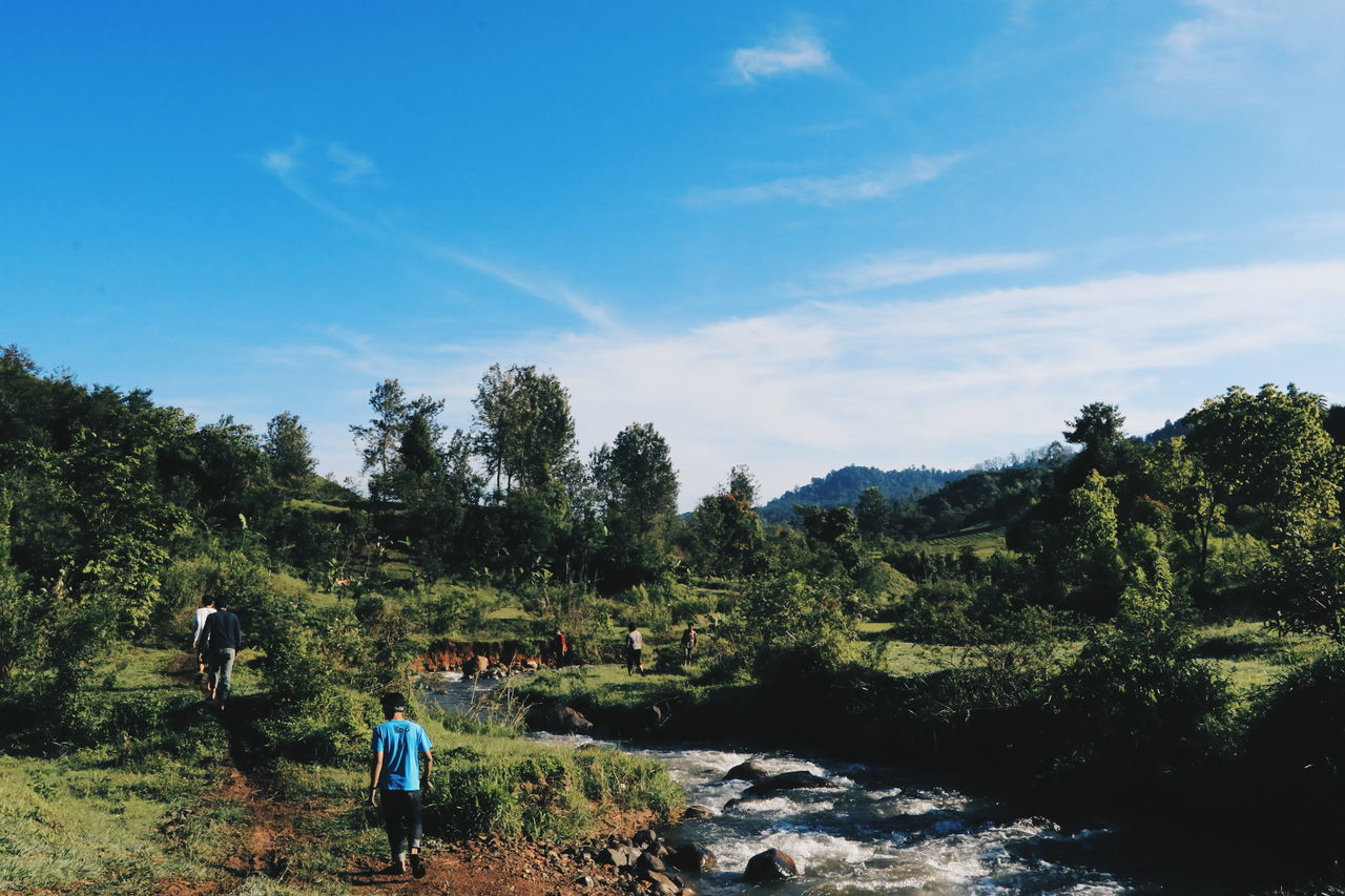 Tree Sky Nature Leisure Activity Real People Outdoors Landscape Men One Person People Day Beauty In Nature Mountain Human Body Part Adult Adults Only Indonesia_photography EyeEm Indonesia Beauty In Nature Nature Focus On Foreground Finding New Frontiers