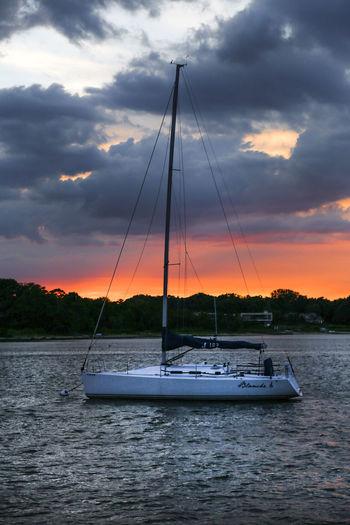Sag Harbor Beauty In Nature Cloud - Sky Hamptons Mast Nature Nautical Vessel No People Outdoors Sail Boat Sailing Scenics Sea Sky Sunset Water