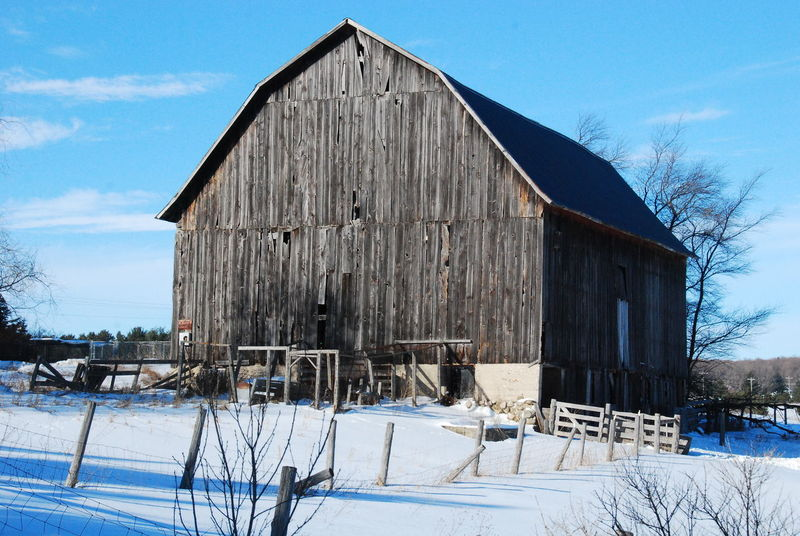 Abandoned Agricultural Building Architecture Bare Tree Barn Building Exterior Built Structure Cold Temperature Day Nature No People Outdoors Sky Snow Weather Winter Wood - Material