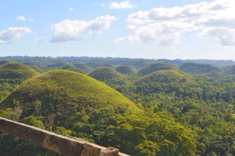 First Eyeem Photo Chocolatehills Landscape Green Color Nature Cloud - Sky Beauty In Nature Outdoors No People Nature Sunlight Bohol Philippines Hills