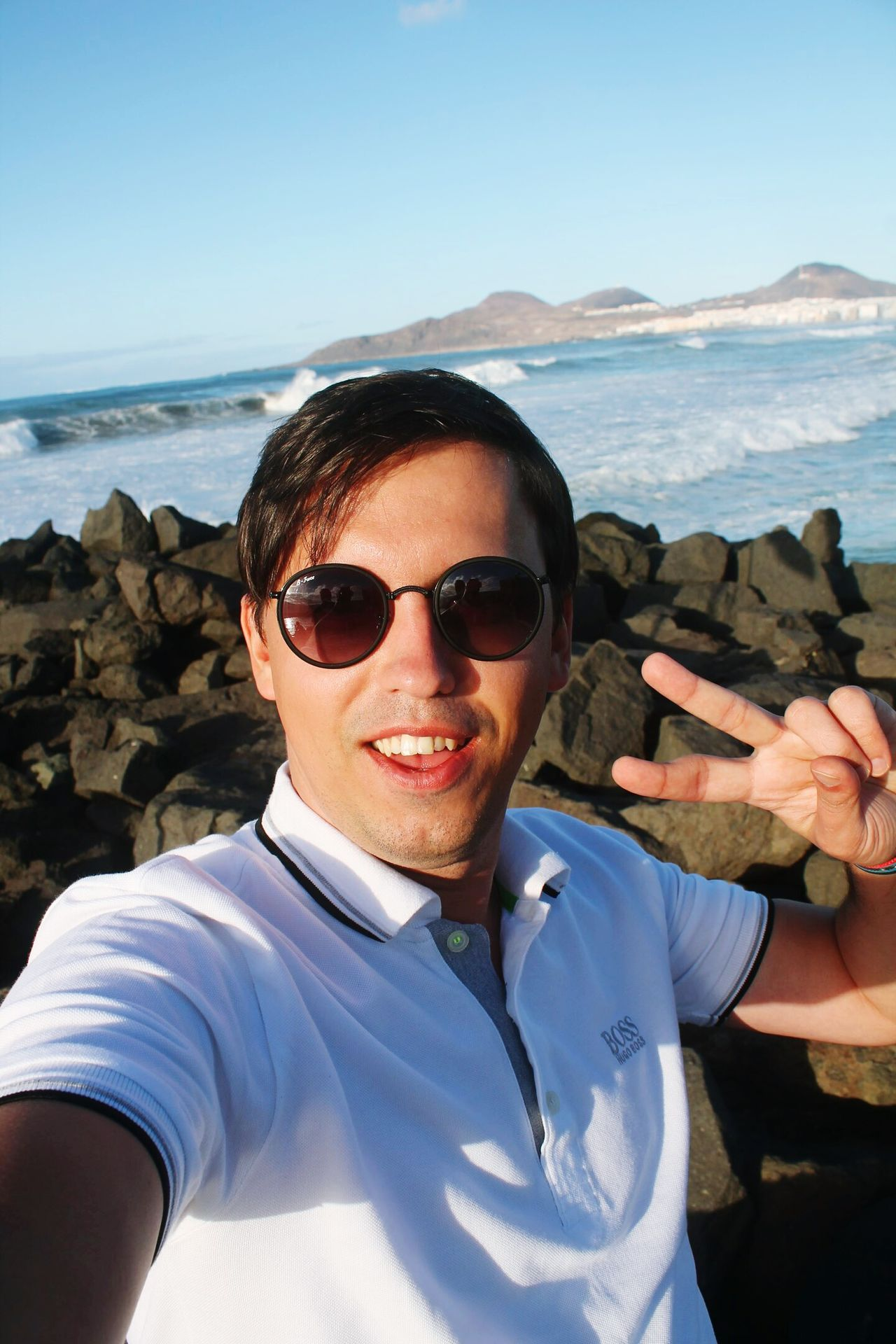 Las Palmas De Gran Canaria Las Palmas Gran Canaria Sea Water Beautiful Day Cool Boy Glass Black Glasses AirBnB Vacation Time Vacation Vacations 2017 January 2017 January Beach Sunglasses Portrait Selfie One Person One Man Only Looking At Camera Men People First Eyeem Photo