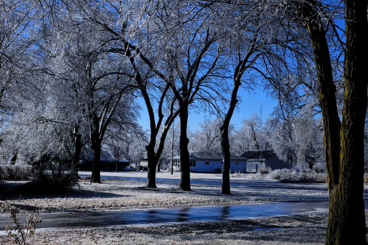 """Visual Journal January 17, 2017 Western, Nebraska - 15 and 16 January 2017 Ice Storm - Over the course of 15 and 16 January 2017, an upper-level storm system tracked from northwest Mexico into the central Plains. A seasonably moist low-level air mass present ahead of the upper-air disturbance surged north through the Great Plains, atop a sub-freezing, near-surface layer of air. The net result was a widespread ice storm which affected locations from the southern High Plains into the mid Missouri River Valley. This winter storm was unusual from the perspective that the predominant precipitation type was freezing rain with little in the way of observed snowfall. Over eastern Nebraska and southwest Iowa, ice accumulations ranged from 0.50-0.75"""" across southeast Nebraska to 0.10-0.20"""" in the Omaha Metro area. A Day In The Life Camera Work Extreme Weather Eye For Photography EyeEm Best Shots EyeEm Masterclass Frozen Nature FUJIFILM X-T1 Ice Age Icicles Icy Day Morning Light My Neighborhood Outdoors Photo Diary Photo Essay Photography Rural America Small Town Small Town Stories Visual Journal Winter Shootermag Wintertime Shootermag_usa"""