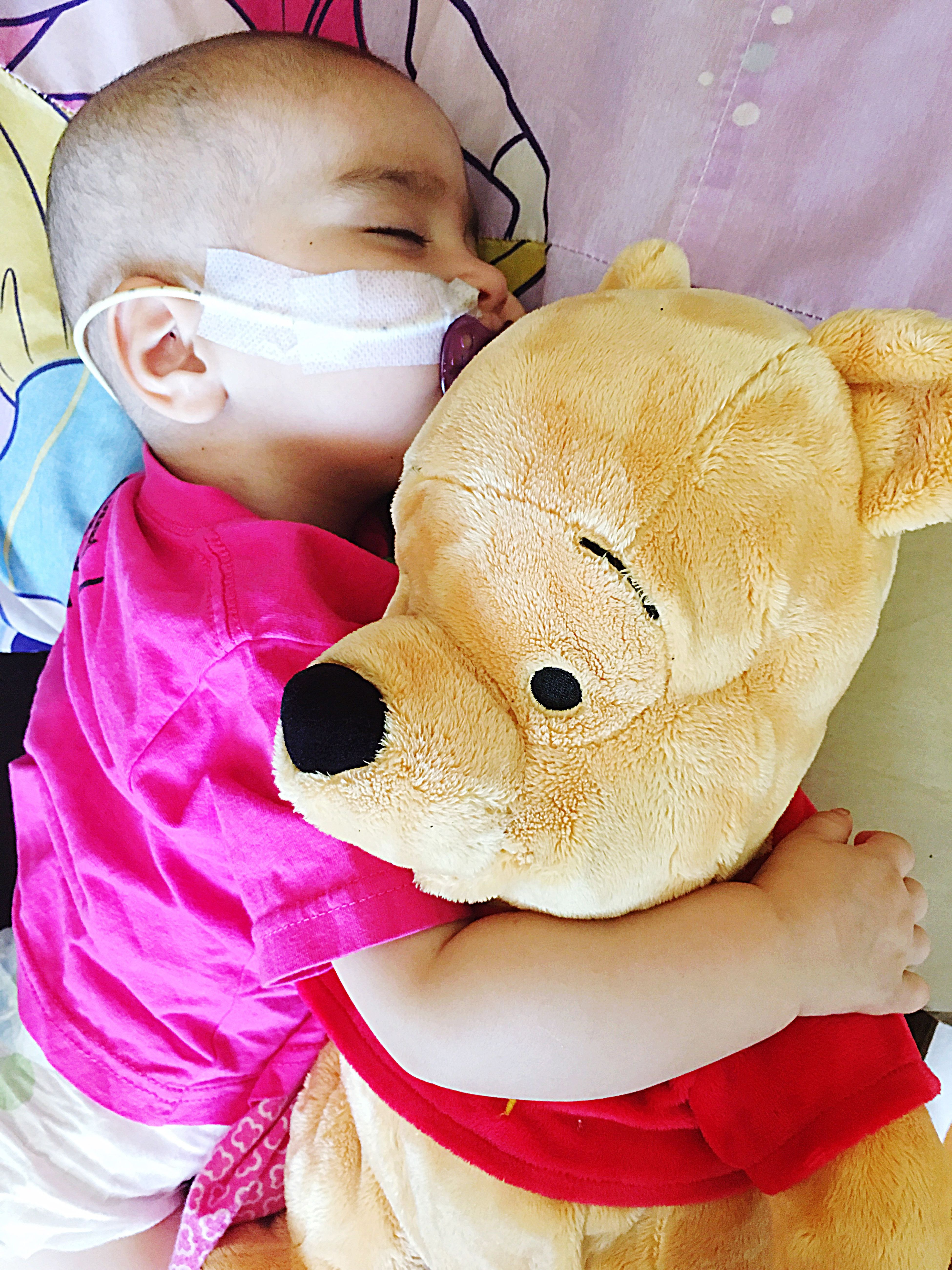 Because Pooh is the best cuddle buddy Pooh Bear My Baby Bald Babies Are The Best 100 Days After Chemo