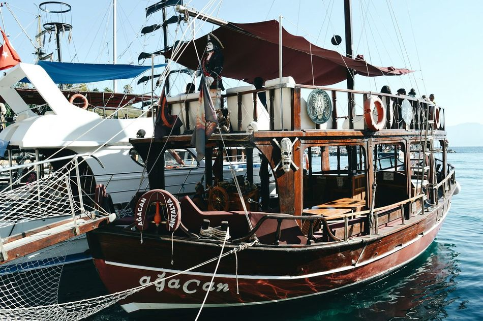 Luxury Outdoors No People Boat Boat Ride Pirateship  Pirate Pirates Turkey Water Water Reflections Details