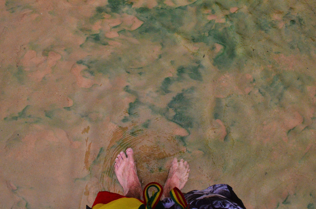 Bath Feet Hot Spring Hotbath  Nature Personal Perspective Sand Standing Warm Spring Water Water
