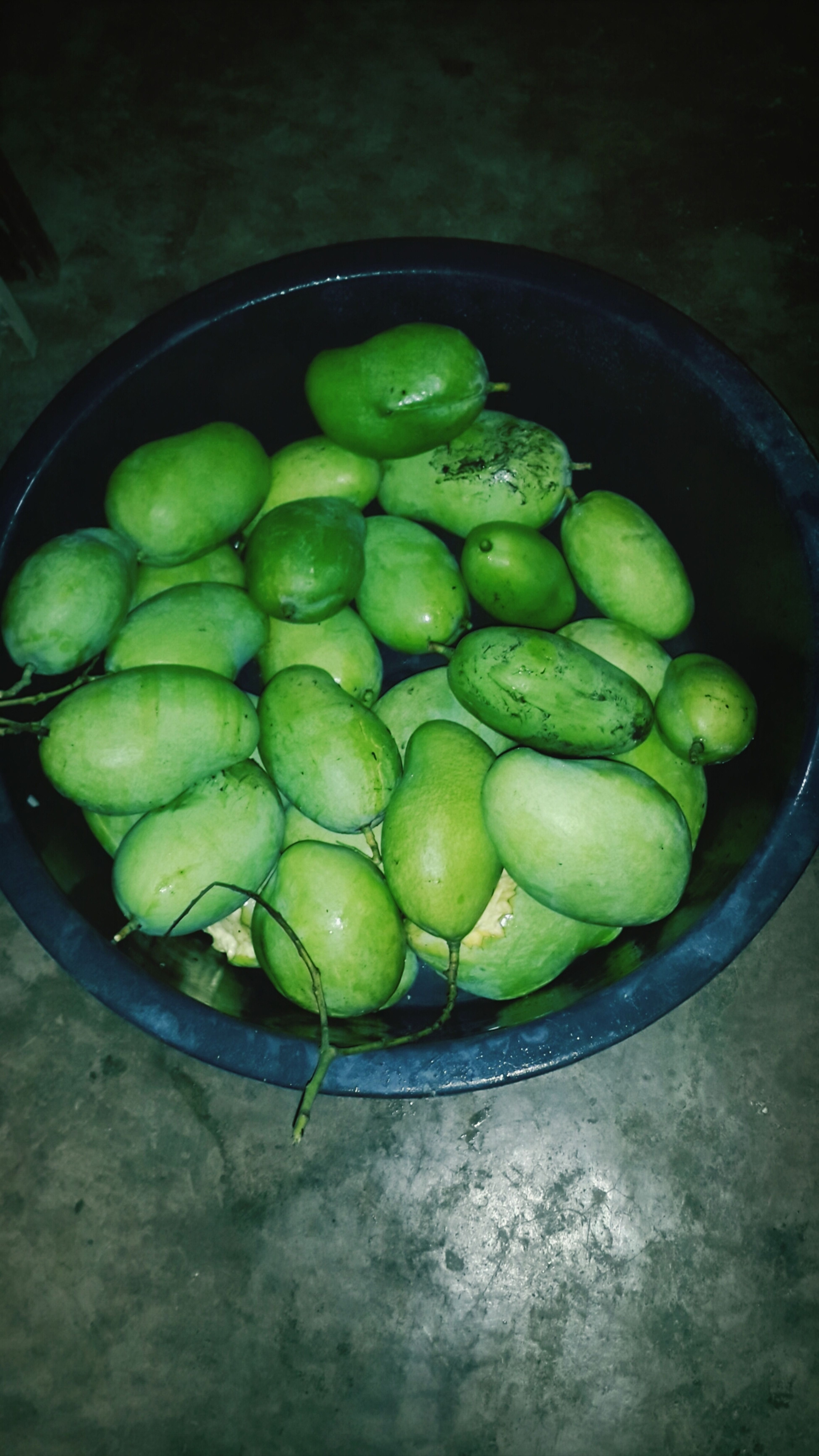 green mangoes from our backyard!.;)