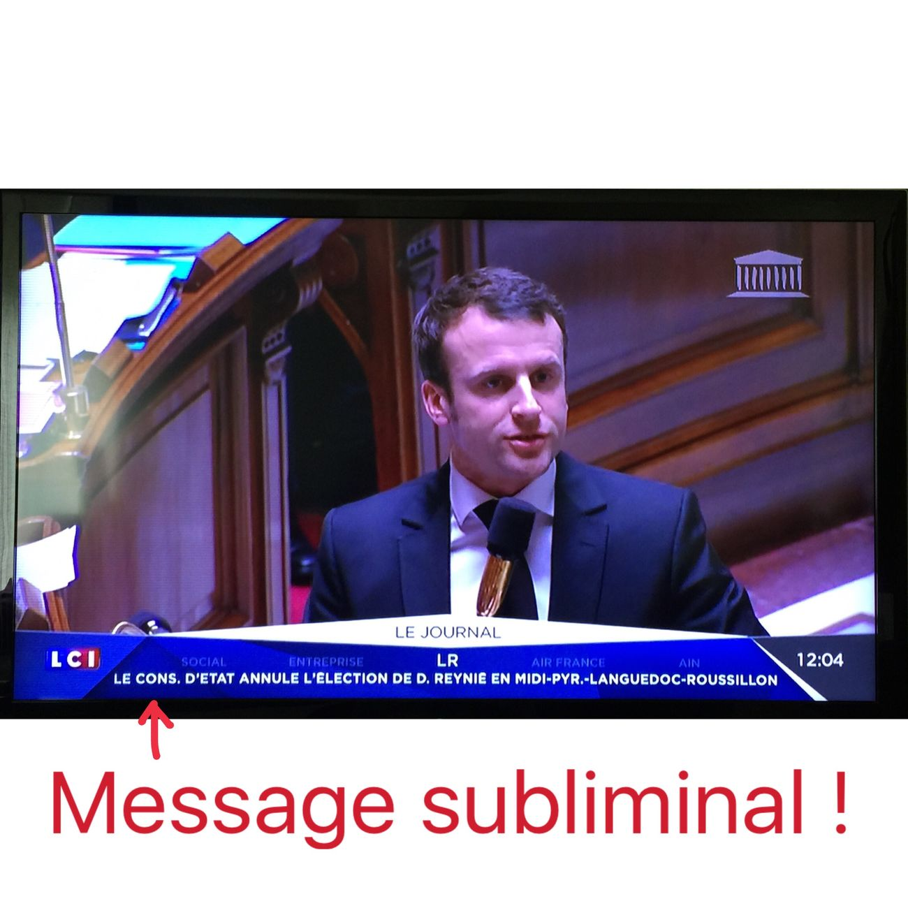 Humour !!! Humour Journal Télé Message Subliminal