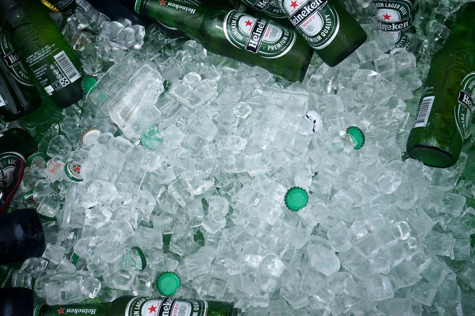 Resist Beer Time Summertime Drinks Alchohol Drinks And Bottles Iced Bottles Collection Icecubes Heineken Shades Of Green  TCPM