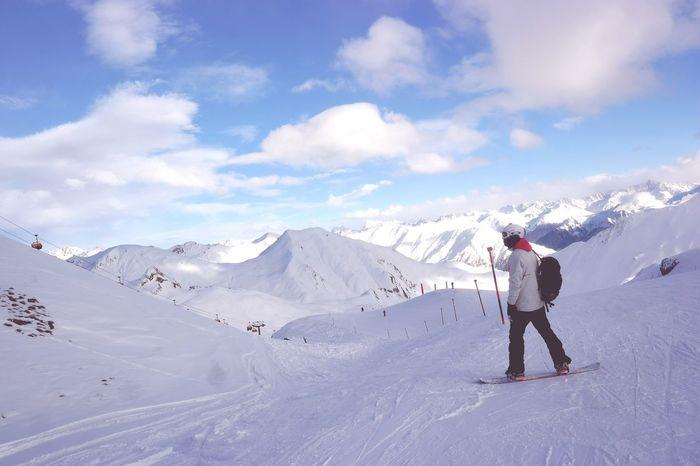 Snowboarding Ski Alps Ischgl Austria