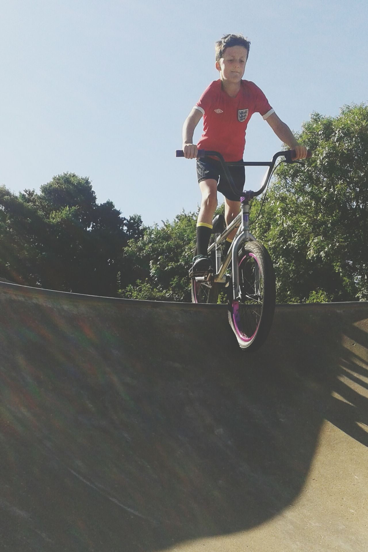 My Son Calum Skate Park Bmx  Dropping In
