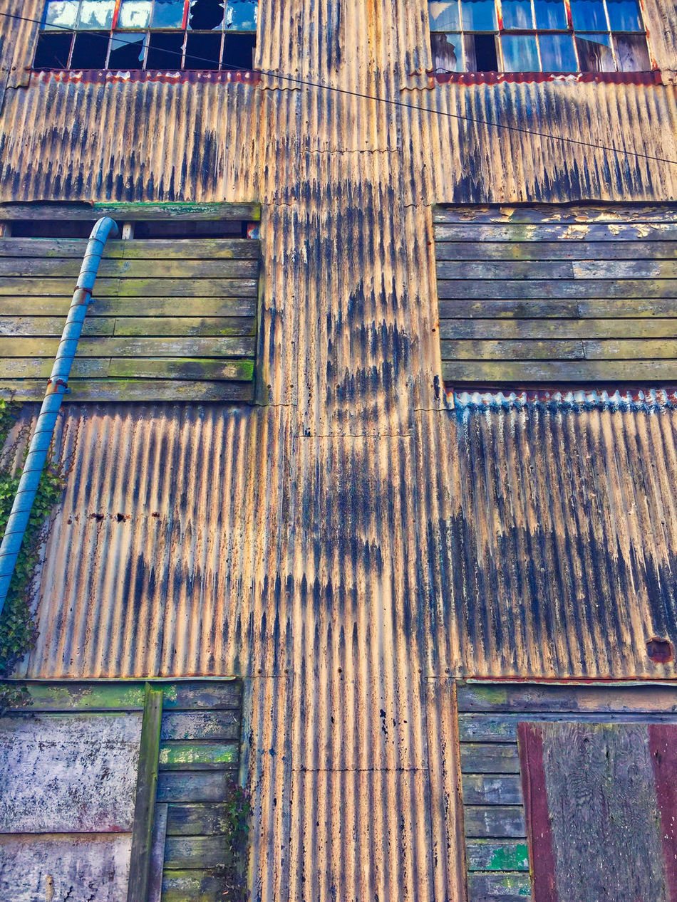 Architecture Building Exterior Built Structure Corrigated Iron Close Up Corrugated Iron Day Derelict Building No People Outdoors Rust