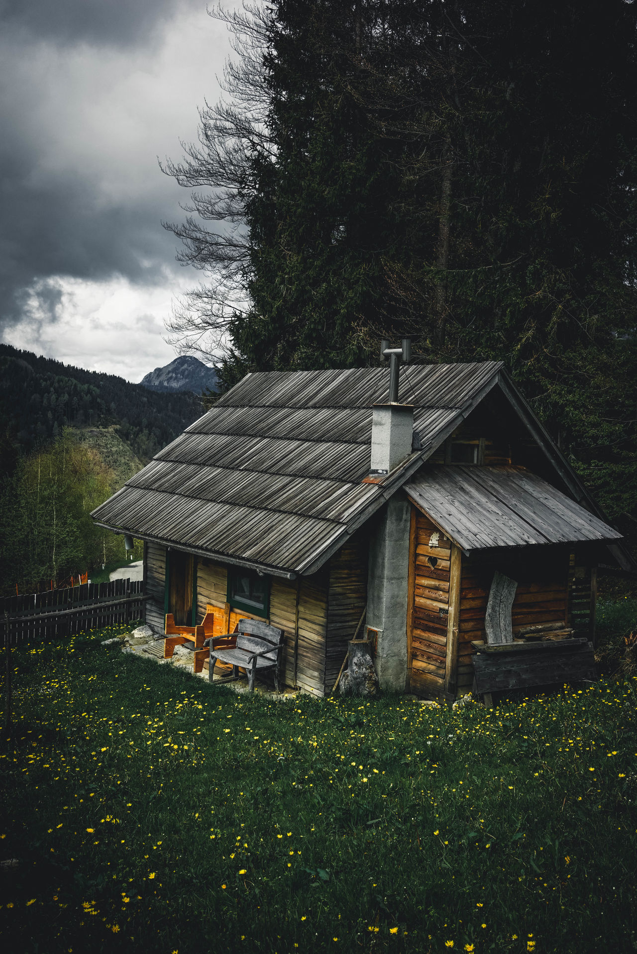 Architecture Building Exterior Built Structure Country House Folk Grass Green Landscape Mood Moody Sky Mountain Natural Beauty Nature Nature Photography Nature_collection Naturelovers Naturephotography No People Outdoor Photography Outdoors Sony Sonyalpha Wood Wood - Material Wooden House