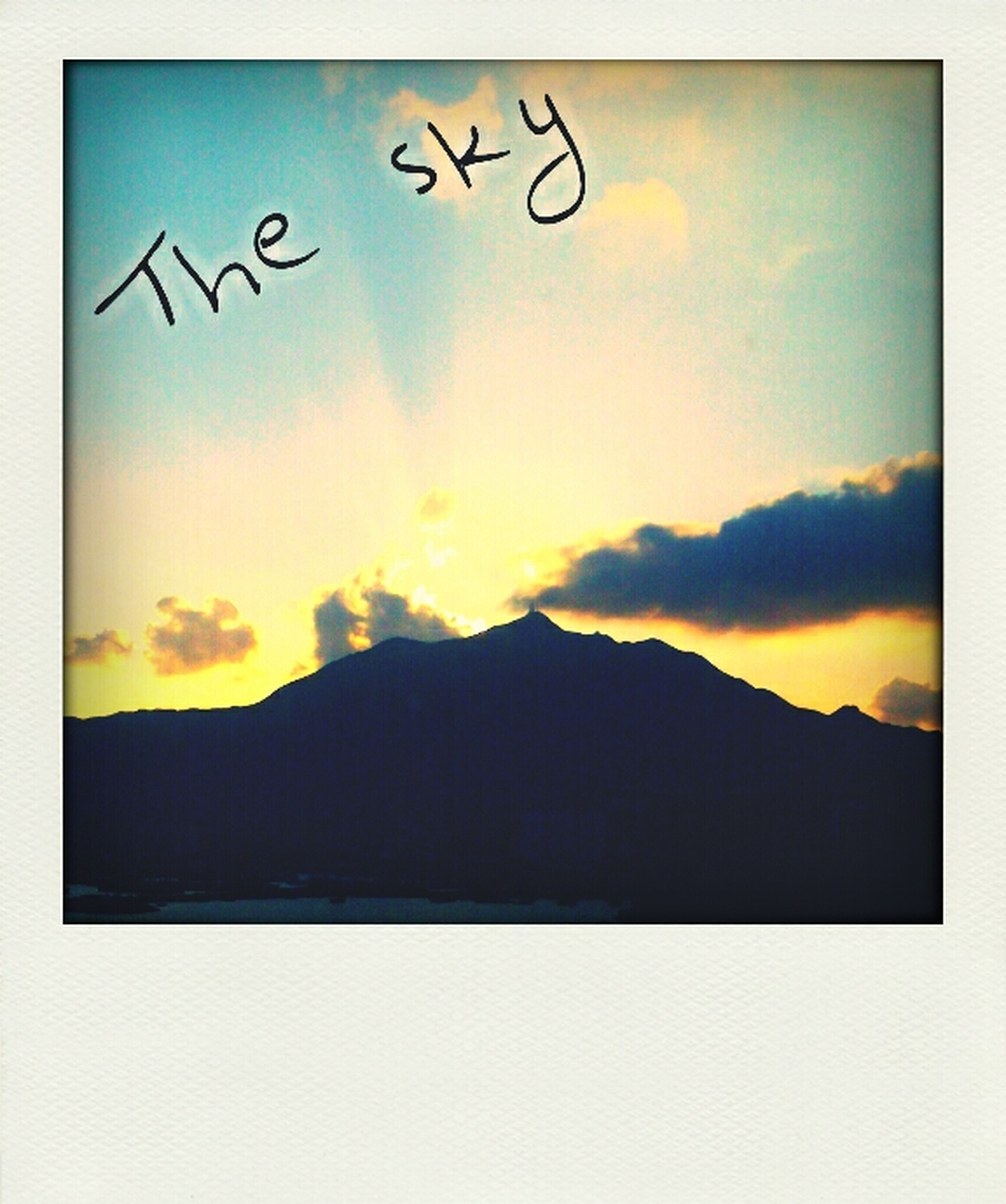 transfer print, sunset, sky, silhouette, scenics, auto post production filter, beauty in nature, tranquil scene, tranquility, mountain, cloud - sky, orange color, cloud, nature, idyllic, dramatic sky, mountain range, dusk, outdoors, landscape