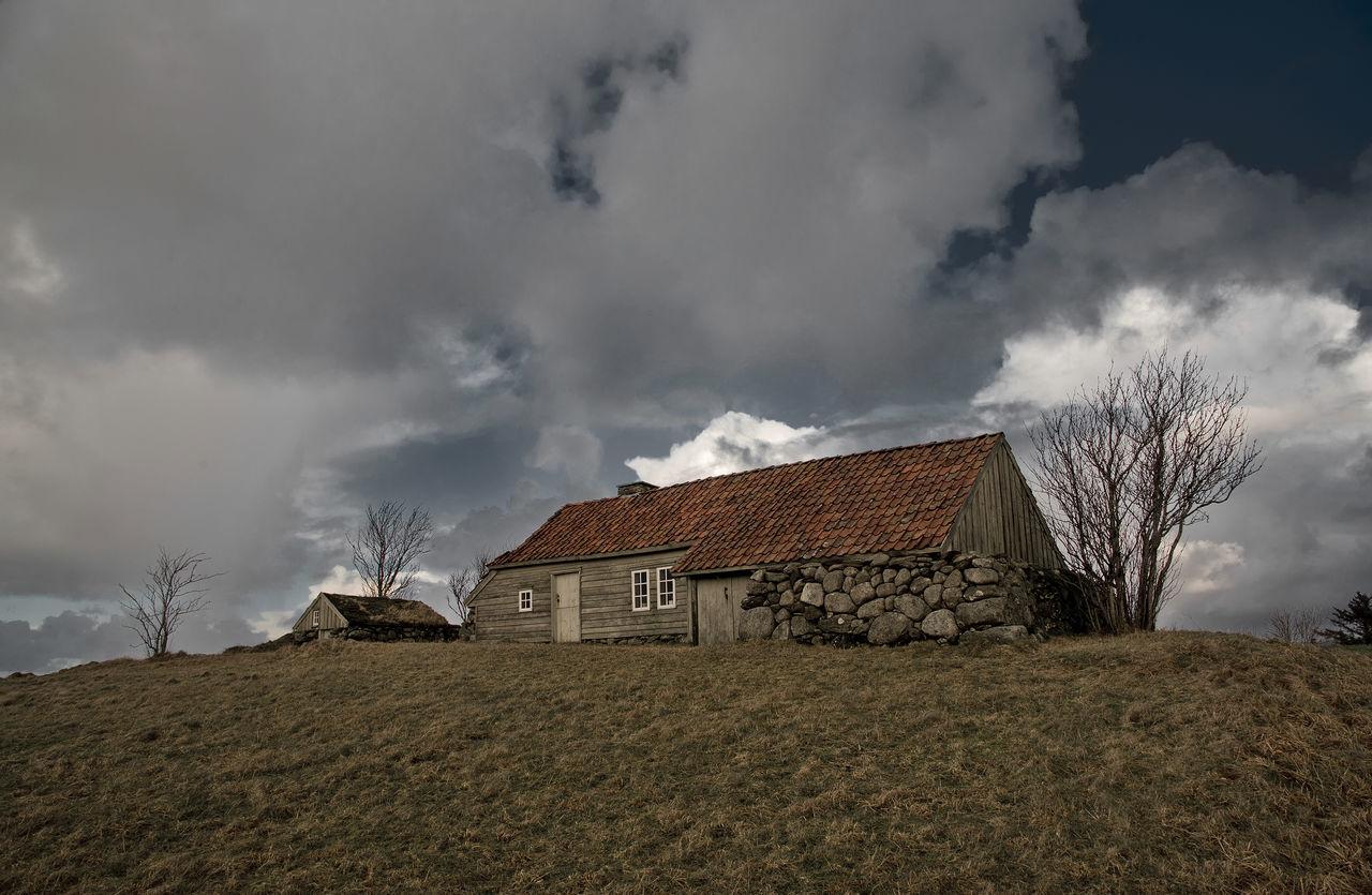 Abandoned Cotter's Farm Desaturated House Jæren Nikon Norge Norway Nærbø Rogaland Storm Cloud Time Træe Wooden House