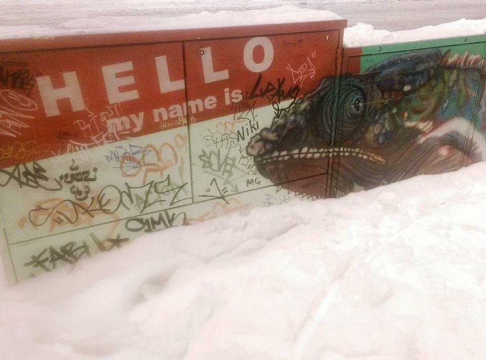 Hello My Name Is Notes From The Underground UrbanART Urban Art Chameleon