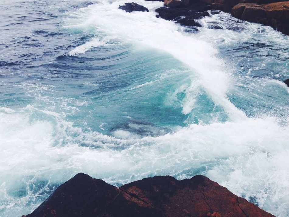 From My Point Of View Ocean Waves Hello World