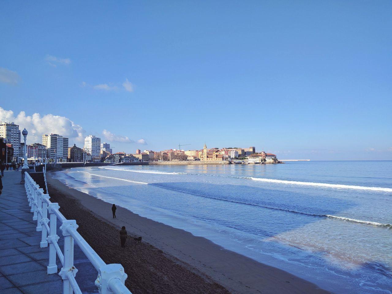 Gijón Beach Sea Outdoors Sky City Water Urban Skyline No People Skyscraper Architecture Day — Taken with Nexus 6P